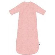 Snoozebaby slaapzak met lange mouw - stars poppy red on pink melange