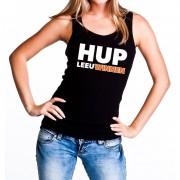 Shoppartners Nederland supporter tanktop Hup LeeuWinnen zwart dames