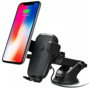 Suport auto iOttie Easy One Touch 4 Qi Wireless Fast Charging Negru