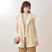Bon Sommeil あったかボアのナイトベスト【QVC】40代・50代レディースファッション