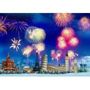 Puzzle Grafika - New Year's Eve around the World, 2.000 piese (63490)
