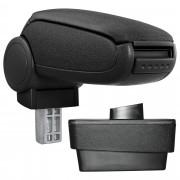 [pro.tec] Márkaspecifikus kartámasz / könyöklő autóba - Skoda Fabia III (Típus NJ) modellhez - szövet - fekete