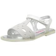 Sandale fetite T-bar Asso alb