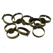 Imported Pack Of 10 Ring Bases Blank Rings Jewelry Making Components Findings W/ Pad