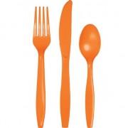 Geen Plastic servies bestek oranje