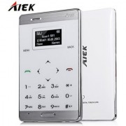 AIEK M3 WHITE ultra Slimmest Credit card Size GSM Touch 3 MONTHS SELLER WARRANTY