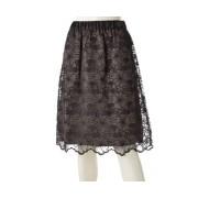 PROSUMER オーガンジーフラワー刺繍スカート【QVC】