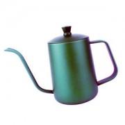 ELECTROPRIME Tea Coffee Pot Coffee Maker Stainless Steel Pot Cappuccino Pot 600ml Green