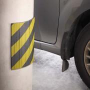 Černo-žlutý pěnový pás na ochranu stěn - délka 30 cm, šířka 20 cm a výška 1 cm