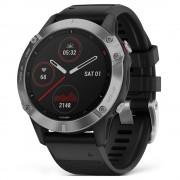 Smartwatch Garmin Fenix 6 Silver cu Black Band (47mm)