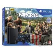 Consola de jocuri PS4 Slim 1TB + joc Far Cry 5 PS4
