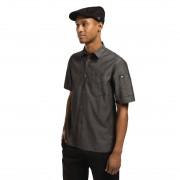 Chef Works Detroit unisex denim shirt korte mouw zwart L - L