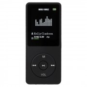 """1.8"""" LCD digital MP3? MP4 y reproductor de video FM de radio de musica - negro (8 GB)"""