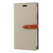 Mercury Pouzdro / kryt pro iPhone XR - Mercury, Milano Diary Beige/Brown