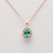 Color Jewels ペンダント エメラルド (K10)