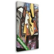 Juan Gris: Gitár és szék (20x30 cm, Vászonkép )