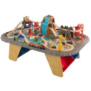 Set trenulete din lemn si masa de joaca Waterfall Junction - KidKraft