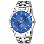 ARMADO Mens Day and Date Blue Dial Analogue Watch (AR-801-BLU)