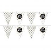 Merkloos 2x Verjaardagsfeest slingers Happy Birthday 10 meter
