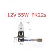 lampadina alogena H3 12v 55W PK22s