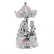 giostrina musicale in argento da bambina con carillon