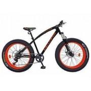 Bicicleta Fat Bike VELORS V2600A Cadru otel Culoare negru-portocaliu