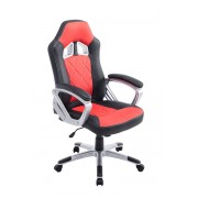 CLP Fauteuil de bureau XL Morgan, noir/rouge CLP noir/rouge, hauteur de l'assise