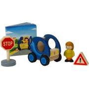 Hape Smart Car Wooden Figure Set with Book
