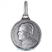 medaglia religiosa in argento papa giovanni paolo ii 14 mm