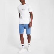 River Island Mens Light Blue skinny fit denim shorts