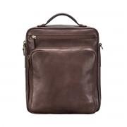 Herren Leder Schultertasche in Braun - Aktentasche, Umhängetasche, Businesstasche, Laptoptasche