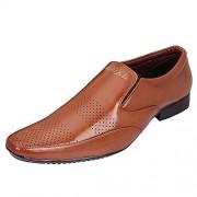 AXONZA Mens'405 Tan Slip on Office/Party wear Formal Shoes