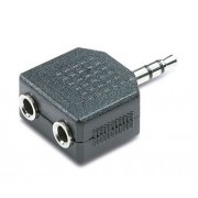 JACK MACHO 3,5mm STEREO A 3,5mm DOBLE HEMBRA MONO --