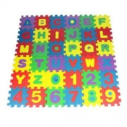 Floor Puzzles,Basde 36Pcs Baby Child Number Alphabet Puzzle Foam Maths Educational Toy Gift Foam Mat of Alphabet Puzzle Pieces Great for Kids to Learn and Play Interlocking Puzz (Multicolor)