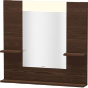 Duravit Vero - Miroir avec éclairage LED 850mm brushed walnut / mirrored