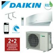 Daikin Climatizzatore Inverter Daikin Emura White New 2018 Ftxj25mw / Rxj25m 9000 Btu Wi-Fi Gas R32 + Staffe