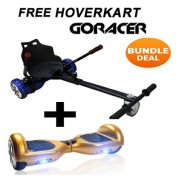 FREE GoRacer Hoverkart with 6.5 Classic Gold Bluetooth Hoverboard Segway