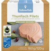 File de Ton Dungat in Ulei de Masline Bio 160gr Followfish