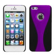 Protector Iphone 5 Negro con Franja Morado