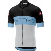 Castelli Prologo VI tricou ciclism bărbați Black/Grey Blue/Ivory L