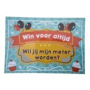 Kraskaart Meter Balloons & cupcakes - Wil je mijn meter worden?