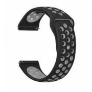 Curea silicon compatibila Huawei Watch GT telescoape Quick Release 22mm NegruGri