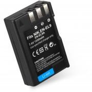 ER Cámara De 7.4V 1200mah Batería Recargable Li-ion Adecuado Para Réflex Digital Nikon D40 -Negro