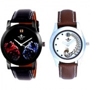 Red-Blue Jaguar And Brown Peacock Feathers Girls Analogue Watch By Ganesha Exim