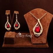 Set bijuterii Gold Ruby
