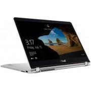"Laptop 2in1 ASUS ZenBook Flip UX561UA-BO004T (Procesor Intel® Core™ i5-8250U (6M Cache, up to 3.40 GHz), Kaby Lake R, 15.6""FHD, Touch, 8GB, 1TB HDD + 128GB SSD @5400RPM, Intel® UHD Graphics 620, Wireless AC, FPR, Tastatura iluminata, Win10 Home, Argintiu)"