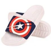 DRUNKEN Men Captain America Duramo Slide White Navy Slip-On Sandal Size 10 Slides