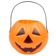 Party Butiko Halloween Pumpkin Plastic Bucket For Halloween Parties