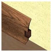 PBC605.124-Plinta pentru cabluri din PVC, 60x20 mm, 2,5 m lungime, culoare stejar cognac