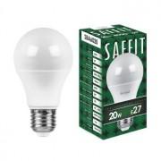 Лампа светодиодная Saffit SBA6020 A60 20W E27 4000K 55014